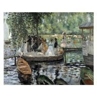 Pierre Auguste Renoir Painting The Grenouillère
