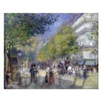 Pierre Auguste Renoir Painting The Grande Boulevards