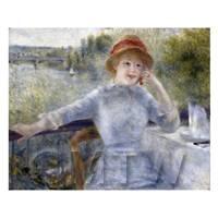 Pierre Auguste Renoir Painting Portrait of Alphonsine Fournaise