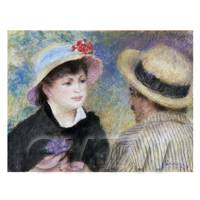 Dolls House Miniature - Pierre Auguste Renoir Painting Boating Couple (Aline Charigot and Renoir)