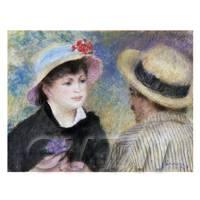 Pierre Auguste Renoir Painting Boating Couple (Aline Charigot and Renoir)