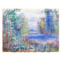 Pierre Auguste Renoir Painting River Landscape