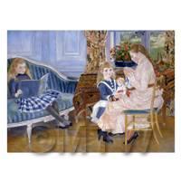 Pierre Auguste Renoir Painting Children At Wargemont