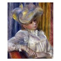 Pierre Auguste Renoir Painting Woman With A Hat