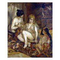 Pierre Auguste Renoir Painting Parisiennes in Algerian Costumes