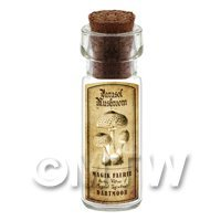Dolls House Miniature Apothecary Parasol Mushroom Bottle And Label