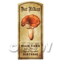 Dolls House Miniature Apothecary Pear Milkcap Fungi Colour Label