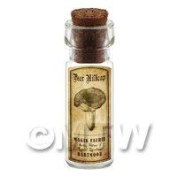 Dolls House Miniature Apothecary Pear Milkcap Fungi Bottle And Label