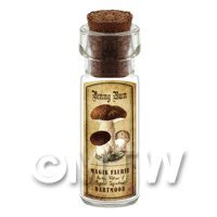 Dolls House Apothecary Penny Bun Fungi Bottle And Colour Label