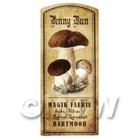 Dolls House Miniature Apothecary Penny Bun Fungi Colour Label