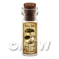 Dolls House Miniature Apothecary Penny Bun Fungi Bottle And Label