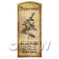 Dolls House Herbalist/Apothecary Peppermint Herb Short Colour Label