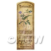 Dolls House Herbalist/Apothecary Periwinkle Herb Long Colour Label