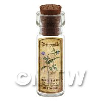 Dolls House Apothecary Periwinkle Herb Short Colour Label And Bottle