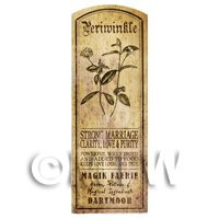Dolls House Herbalist/Apothecary Periwinkle Herb Long Sepia Label