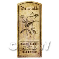 Dolls House Herbalist/Apothecary Periwinkle Herb Short Sepia Label