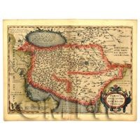 Dolls House Miniature Old Map Of The Persian Empire From The Late 1500s