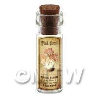 Dolls House Apothecary Pink Coral Fungi Bottle And Colour Label