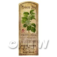 Dolls House Herbalist/Apothecary Poison Ivy Herb Long Colour Label