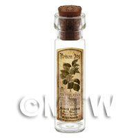 Dolls House Apothecary Poison Ivy Herb Long Sepia Label And Bottle