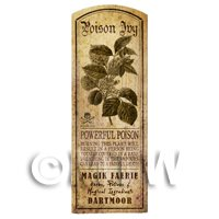 Dolls House Herbalist/Apothecary Poison Ivy Herb Long Sepia Label
