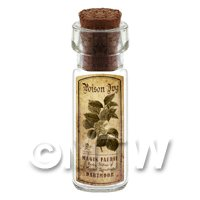Dolls House Apothecary Poison Ivy Herb Short Sepia Label And Bottle