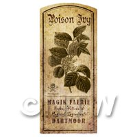 Dolls House Herbalist/Apothecary Poison Ivy Herb Short Sepia Label