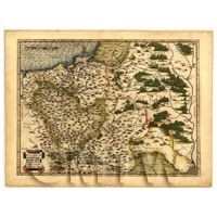 Dolls House Miniature Old Map Of Poland From The Late 1500s