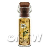 Dolls House Apothecary Poppy Seed Herb Short Colour Label And Bottle