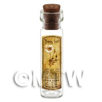 Dolls House Apothecary Poppy Seed Herb Long Sepia Label And Bottle
