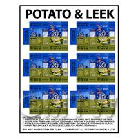 Dolls House Miniature Packaging Sheet of 6 Potato & Leek Cup a Soup