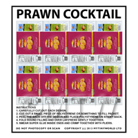 Dolls House Miniature Packaging Sheet of 8 Walkers Prawn Cocktail Crisps