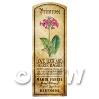 Dolls House Herbalist/Apothecary Primrose Herb Long Colour Label