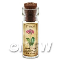 Dolls House Apothecary Primrose Herb Short Colour Label And Bottle