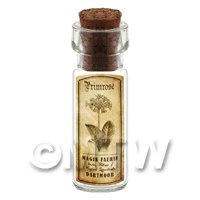 Dolls House Apothecary Primrose Herb Short Sepia Label And Bottle