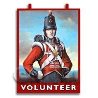Dolls House Miniature Pub / Tavern Sign - The Volunteer