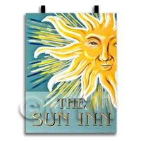 Dolls House Miniature Pub / Tavern Sign - The Sun Inn