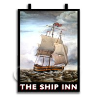 Dolls House Miniature Pub / Tavern Sign - The Ship Inn