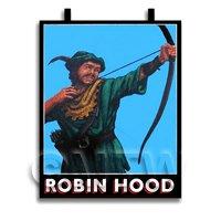 Dolls House Miniature Pub / Tavern Sign - Robin Hood