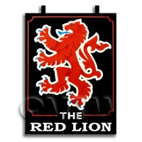 Dolls House Miniature Pub / Tavern Sign - Red Lion