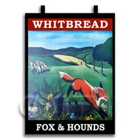 Dolls House Miniature Pub / Tavern Sign - Fox And Hounds