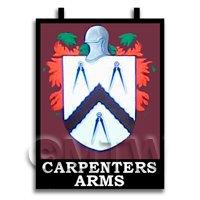 Dolls House Miniature Pub / Tavern Sign - Carpenters Arms