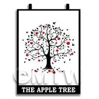 Dolls House Miniature Pub / Tavern Sign - The Apple Tree