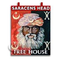 Dolls House Miniature Pub / Tavern Sign - Saracens Head