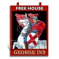 Dolls House Miniature Pub / Tavern Sign - The George Inn