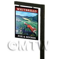 Free Standing Dolls House Pub / Tavern Sign - Fox And Hounds
