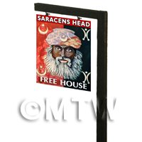 Free Standing Dolls House Pub / Tavern Sign - Saracens Head
