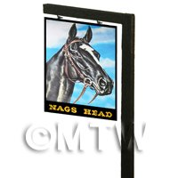 Free Standing Dolls House Pub / Tavern Sign - Nags Head