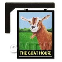 Wall Mounted Dolls House Pub / Tavern Sign - The Goat House
