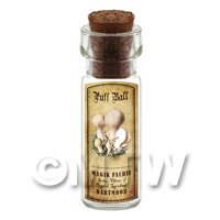 Dolls House Apothecary Puff Ball Fungi Bottle And Colour Label